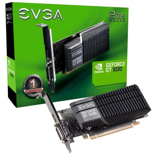 Placa de Vídeo VGA NVIDIA EVGA GEFORCE GT 1030 SC 2GB 64 Bit GDDR5 02G-P4-6332-KR