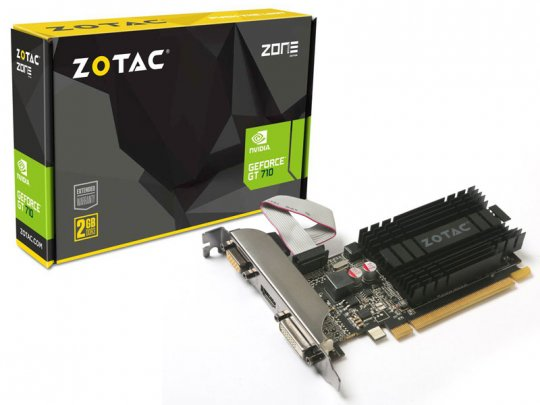 Placa de Vídeo VGA NVIDIA Zotac GEFORCE GT 710 1GB DDR3 64 Bits ZT-71301-20L
