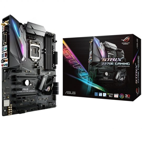Placa-Mãe ASUS p/ Intel LGA 1151 ATX ROG STRIX Z270E GAMING,DDR4, Aura Sync