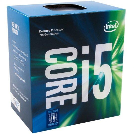 Processador Intel Core i5-7400 Kaby Lake 7a Geração, Cache 6MB, 3.0Ghz (3.5GHz Max Turbo), LGA 1151