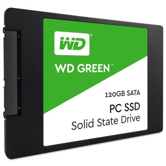 SSD WD Green 2.5´ 120GB SATA III 6Gb/s Leituras: 540MB/s e Gravações: 430MB/s - WDS120G1G0A