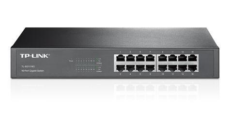 Switch 16 Portas TP-Link 10/100/1000 - Rack TL-SG1016D