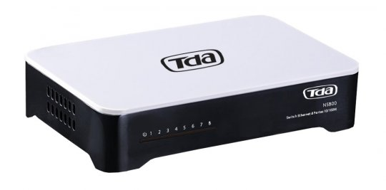 SWITCH TDA MINI 8 Portas NS800 10/100 Mbps