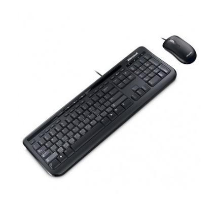 Teclado Microsoft Multimídia + Mouse Basic Óptico Wired Desktop 600 Black APB-00005