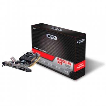 PLACA DE VÍDEO VGA AMD XFX RADEON R5 230 2GB DDR3 650M 128BITS R5-230A-CLF2