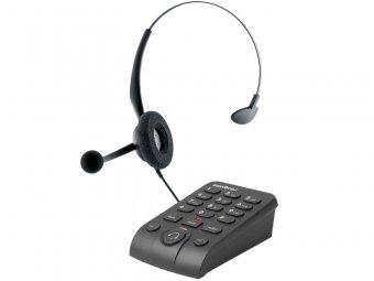 Telefone Headset Intelbras HSB 50, Analógico, com Fio, com Base Discadora