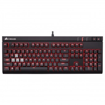 TECLADO GAMING MECANICO STRAFE CHERRY MX BLUE- CH-9000226-NA - CORSAIR