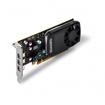 Placa de video Quadro nvidia P400 2GB GDDR5 64 BITS VCQP400-PORPB - SUPORTA ATÉ 3 MONITORES/TV