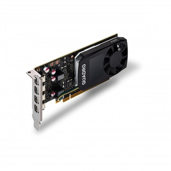Placa de video Quadro nvidia P1000 4gb Gdd5 128 Bits Vcqp1000-Porpb - Suporta Até 4 Monitores/Tv