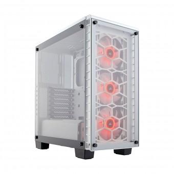 Gabinete Crystal 460X RGB white Aço / Vidro temperado CC-9011129-WW