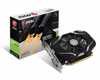 Placa de video Msi Geforce Gtx 1050 TI 4G OC - 912-V809-2268