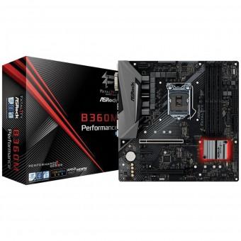 Placa Mãe Micro Atx AsRock FATAL1TY B360M Performance - Ddr4 - Intel 1151 8º GER. VGA/HDMI/DVI-D - USB 3.1