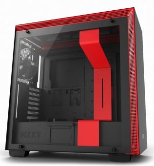Gabinete NZXT H700 Matte Black / Red  Painel de vidro temperado - Gerenciamento de cabos - CA-H700B-BR