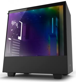 Gabinete H500I Black - Iluminação Rgb - Painel de vidro temperado - Gerenciamento de cabos - CA-H500W-B1