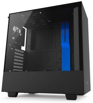 Gabinete H500 Black/Blue - Mid-Tower atx - Painel de vidro- Chassi em aço - CA-H500B-BL