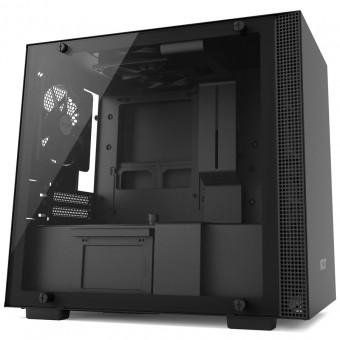 Gabinete H200 Black - Mini-Itx - Painel de vidro temperado - Em aço - CA-H200B-B1