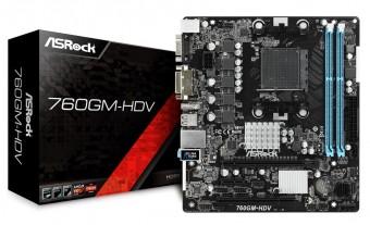 Placa Mãe Asrock 760GM-HDV - AM3 - AM3+  Dvi-D Hdmi D-SUB USB 2.0