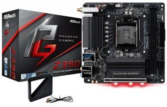 Placa Mãe Asrock Z390 Phantom Gaming - Itx/Ac Intel 1151 DDR4 Hdmi / Displayport Usb 3.1 Tipe-C Ultra M.2  8ª  E 9ª Geração