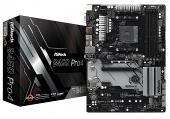 Placa Mãe Asrock B450 Pro4 Am4 DDR4 Hdmi Display Port D-SUB Usb 3.1 TIPE-C M.2 Duplo