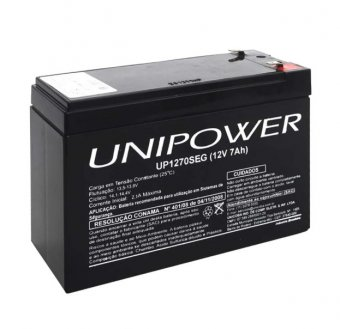 Bateria Selada 12V/7A UP1270SEG Unipower