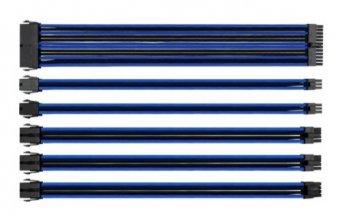 Cabo Mod Sleeved Preto e Azul 30cm Thermaltake