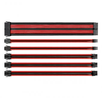 Cabos Extensores Thermaltake Tt Mod Sleeve Cable Preto/vermelho, Ac-033-cn1nan-a1