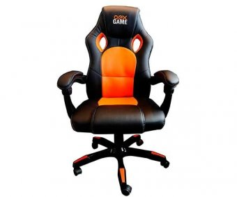 Cadeira Gamer OEX GC-100 Preto/Laranja