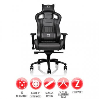 Cadeira Gamer Thermaltake X Fit Gc-Xfs-Bbmfdl-01 Black