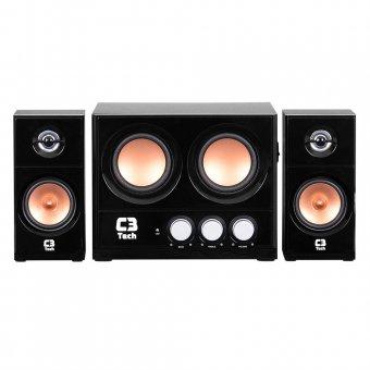 Caixa de Som C3 Tech 2.1 20w Rms Preta - Sp-225s