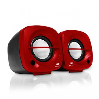 Caixa De Som C3TECH SP-303RD 3W USB Preto/Vermelho