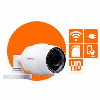 Camera Intelbras 1MP Wifi Bullet 2.8MM IR30M Mibo IC5 IP66 C/Fonte