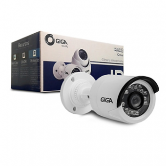 Imagem - Camera IP 1MP Bullet 2.8MM IR20M GSIP1M20TB28 (720P) Outdoor IP66 Giga
