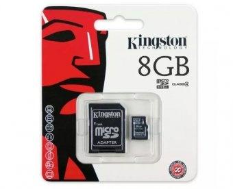 Cartão de Memória Kingston MicroSD Card 8GB
