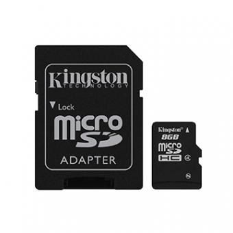 Cartão De Memória Micro-SD Kingston 8GB + Adaptador SD