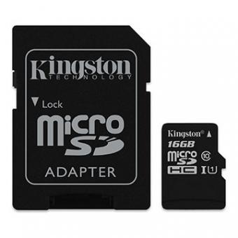 Imagem - Cartao  De Memoria SD Kingston Class 10UHS-I 16GB Micro +Adaptador SDCS/16GB
