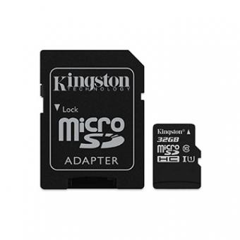 Cartão de Memoria SD Kingston Class 10UHS-I 32GB Micro+Adaptador SDCS/32GB