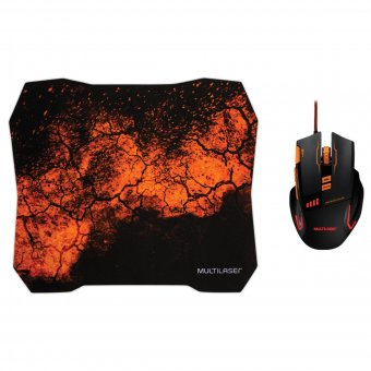 Combo Gamer Mouse + Pad Mouse MO256 MULTILASER