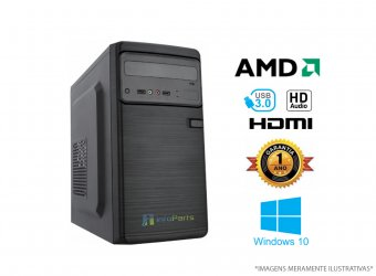 Computador Home Office AMD FX6300 - 4GB RAM, HD 500GB, WINDOWS 10 PRO 64