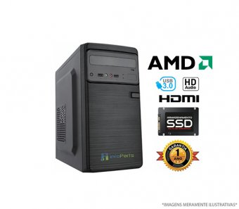 Computador Home Office AMD Ryzen 3 2200G - 4GB RAM, SSD 240GB