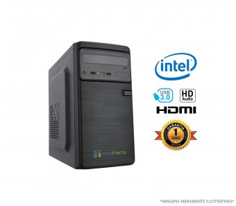 Computador Home Office Intel Celeron G3900, 4GB RAM, HD 500GB