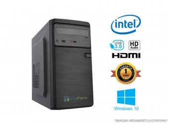 Computador Home Office Intel Core I3- 3220 - 4GB RAM, HD 500GB, WINDOWS 10 PRO 64