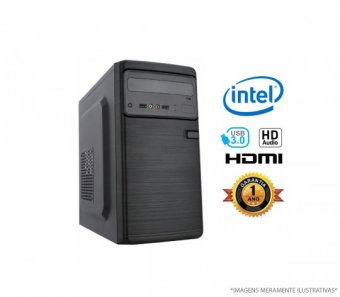 Computador Home Office Intel J3060 - 4GB RAM, HD 500GB