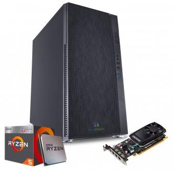 Computador Workstation WK-R540 InfoParts - Amd Ryzen 5 - 2600X, Quadro P400, 16GB RAM, 1TB