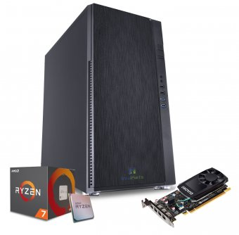 Computador Workstation WK-R7P6 InfoParts - Amd Ryzen 7 - 2700, Quadro P620, 16GB RAM, 1TB