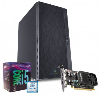 Computador Workstation WK-8462 InfoParts - Intel Core I5-8400, Quadro P620, 16GB RAM, 1TB