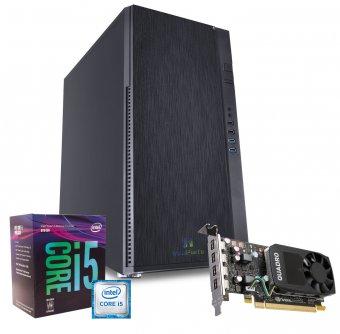 Computador Workstation WK-9462 InfoParts - Intel Core I5-9400F, Quadro P620, 16GB RAM, 1TB