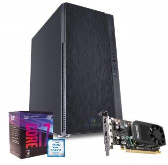Computador Workstation WK-87P6 InfoParts - Intel Core I7-8700, Quadro P620, 16GB RAM, 1TB