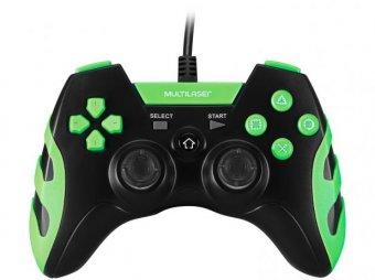 Controle Joystick PS3/PS2/PC Preto/Verde JS081