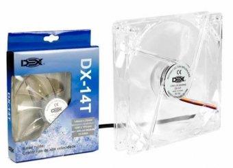 Cooler Dex Led Branco Transp Dx-14t 140mm | InfoParts