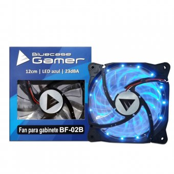 COOLER FAN BLUECASE LED AZUL BF-02B 120MM
